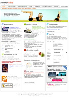 Personal Trainer : gestion de site web